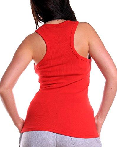 L.Gonline - Camiseta sin mangas - para mujer rojo