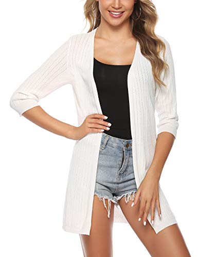 iClosam Women Casual 3/4 Sleeve Knit Open Front Cardigan Sweater ()