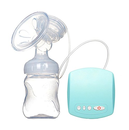 Ideal for Travel Smilelve Single Electric Breast Pump Portable /& Comfortable Massage Silicone BPA Free Breastpump Ultra-Light USB Powered Blue