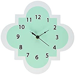 Trend Lab Wall Clock, Mint Quatrefoil