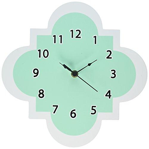 - Trend Lab Wall Clock, Mint Quatrefoil