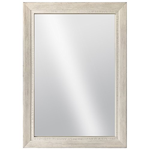 (Raphael Rozen Rustic, Distressed, Classic, Traditional, Transitional, Hanging Wall Mounted Framed Mirror' Miramar 2 1/2