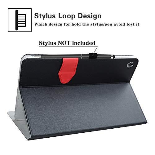 MediaPad M5 Lite Wireless Keyboard Case,LiuShan Detachable Wireless Keyboard Standing PU Leather Cover for 10.0