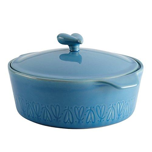 llection Stoneware Round Casserole, 2.5-Quart, Blue (2.5 Quart Round Dish)