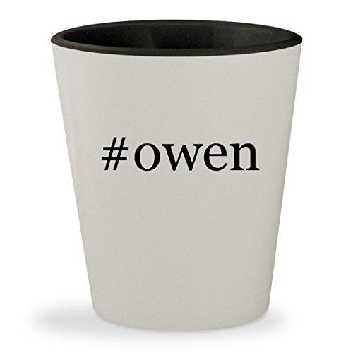 #owen - Hashtag White Outer & Black Inner Ceramic 1.5oz Shot Glass