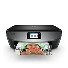 Designed for those that love to share photos, the HP ENVY Photo line allows you to print stunning, true-to life photos for less than 5 cents each with HP Instant Ink (subscription required). With a dedicated photo tray, borderless printing an...