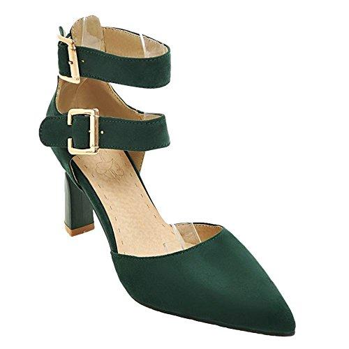 MissSaSa Donna Scarpe col Tacco Semplice e Molticolore (34, verde)