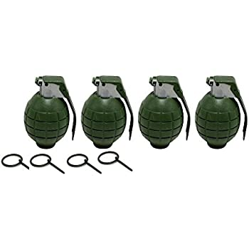 Lot of 4 GREEN Kids Toy B/o Hand Grenades for Pretend Play
