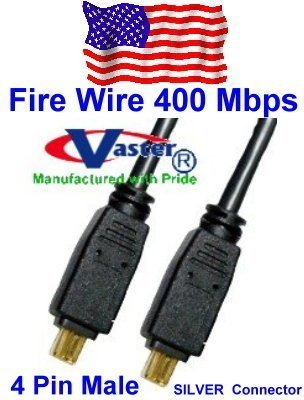 SuperEcable iLInk Cable,4 P to 4 P IEEE 1394 Firewire in DV 20076-10 Ft DV iLink Fiwire Cable 5 PCS//Pack