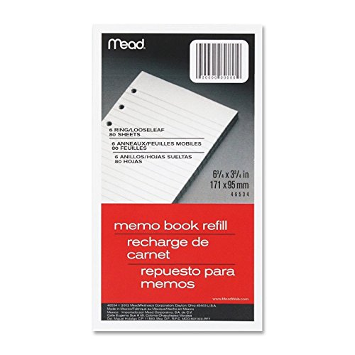 Mead Loose Leaf 6 Ring Refill College