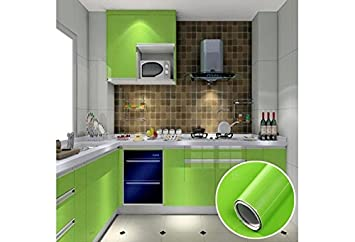 sticky paper for furniture. Wallpaper Cupboard Door Drawer Liner Cover Self Adhesive Vinyl (GREEN)Wall Sticker RollKitchen Cabinet Sticky Paper For Furniture