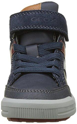 Geox J Arzach C, Zapatillas Altas para Niños Azul (Navy/bordeaux)