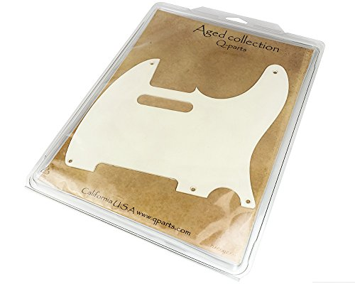 (Q-Parts Aged Collection '57 Telecaster Pickguard, 1-ply Aged White )