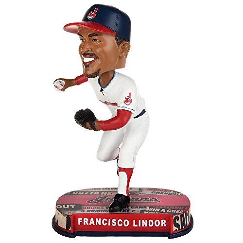 (Forever Collectibles Francisco Lindor Cleveland Indians Headline Special Edition Bobblehead MLB)