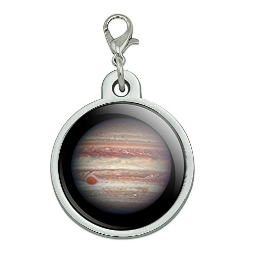 Graphics and More Planet Jupiter Solar System Chrome Plated Metal Pet Dog Cat ID Tag - Large