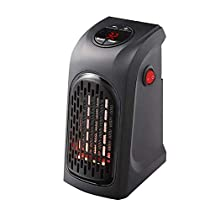 Wootbees Portable Space Heater Plug In Electric Handy Air Heater Wall-Outlet Ceramic Heater Adjustable Thermostat Timer Warm Air Heater