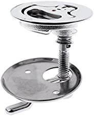 Baosity 316 Stainless Steel 2 inch Flush Pull Hatch Cam Latch with Back Plate for RV Boat Deck Floor - Non-Loc