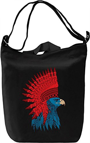 Eagle indian Borsa Giornaliera Canvas Canvas Day Bag| 100% Premium Cotton Canvas| DTG Printing|