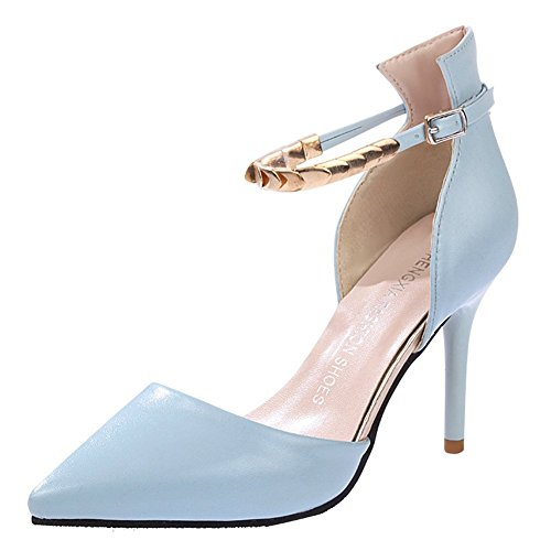 Maybest Women's Summer Fashion Ankle Strappy Stilettos Elegant Pointed Toe Shoes High Heel Sandals