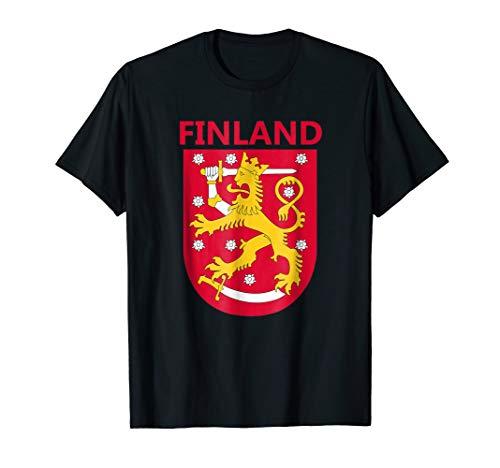 Finland Coat of Arms T-Shirt Finnish Emblem Shirt (Finnish Of Arms Coat)