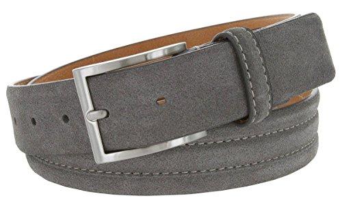 grey suede belt - 9