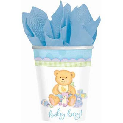 Precious Bear Blue Paper Cups 8ct by Party (Surprise Teddy Bear)