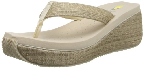 Volatile Women's Bahama Wedge Sandal,Bone,8 B (Sporty Bone)
