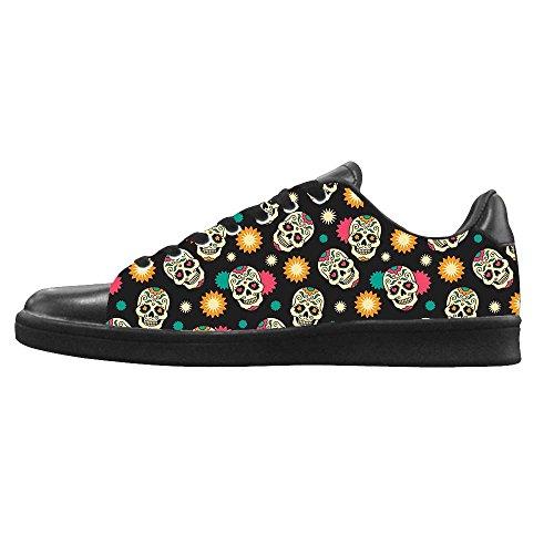 Dalliy Flower Sugar skull Mens Canvas shoes Schuhe Lace-up High-top Sneakers Segeltuchschuhe Leinwand-Schuh-Turnschuhe C