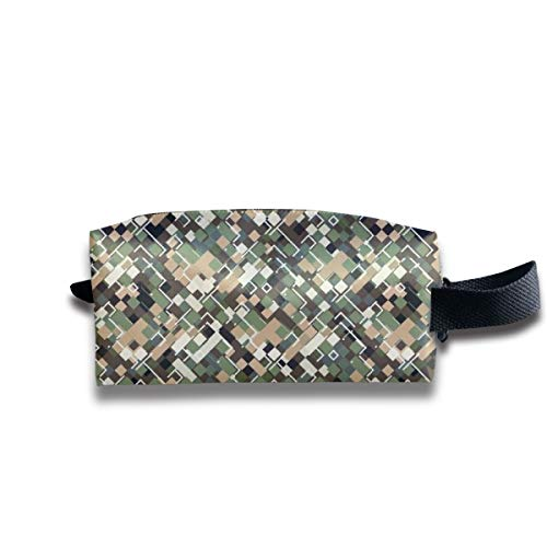 Taslilye Urban Camouflage Vector Image Personalized Cosmetic Bag Portable Printing Bag for Women