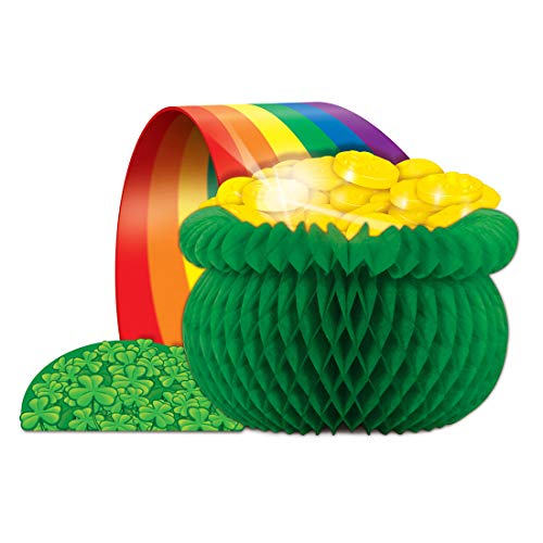 Rainbow Pot O' Gold Centerpiece - Party Supplies - Holiday Saint Patrick's Day]()