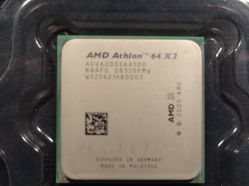 (AMD Athlon 64 X2 6000+ Dual Core 3.1 GHz ADV6000IAA5DO 89W Socket AM2 AM2+ Quiet)