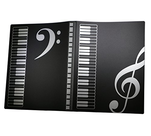 (MOREYES Music Folder Song Sheet Holder Clef Paper Storage For A4 Size Paper With 40 Pockets (40 pockets))