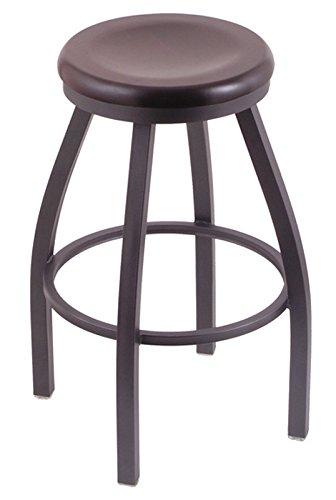 Holland Bar Stool Co. XL 802 Misha Pewter Swivel Bar Stool, Dark Cherry Maple