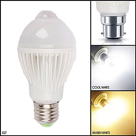 MSC – Bombilla LED B22/E27, 5 W, 450 lúmenes, sensible a