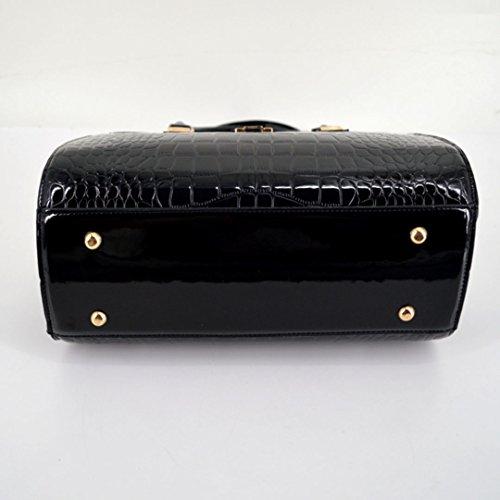 en cuir ISABELLE Noir sac les l'épaule Noir femmes d'alligator sac contre bande à sac rqEtEnSF