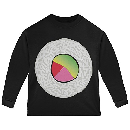 (Old Glory Halloween Sushi Costume 2 Black Toddler Long Sleeve T-Shirt -)