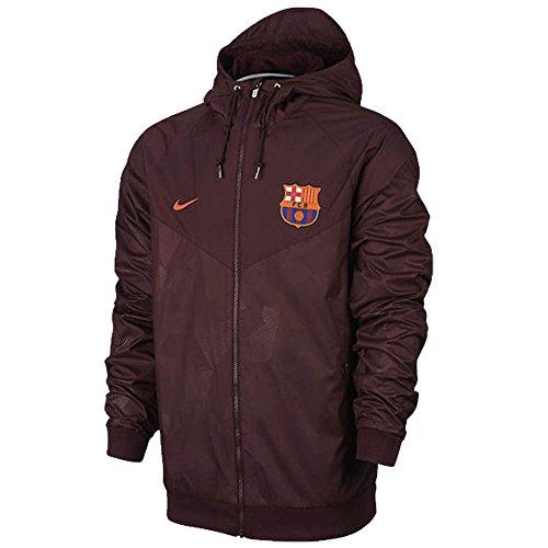 Nike Men's FC Barcelona Soccer Windrunner Jacket (Night time Maroon, Hyper Crimson) – DiZiSports Store