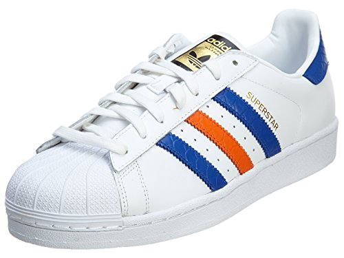 Adidas Superstar East River Rival Mens Style: B34310-Wht/Blue/Oran Size: 7.5 M US