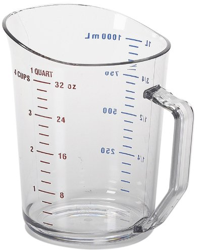 Camwear 1-Quart Polycarbonate Measuring Cup, Clear (1 Cup Quart)