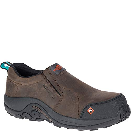 Merrell Jungle Moc Comp Toe Work Shoe Women 9.5 Espresso