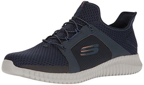 Skechers Mens Elite Flex Fashion Sneaker Blu / Arancione