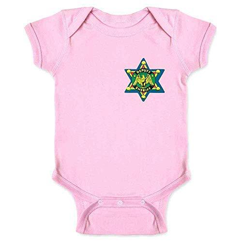 (Pop Threads Sheriff Badge Retro Western Cowboy Pink 24M Infant Bodysuit)