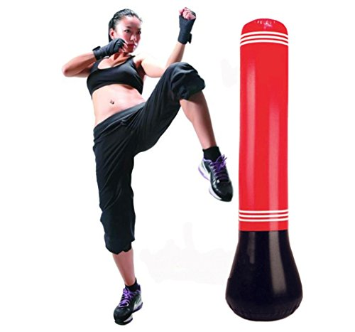 WHYQZ Inflatable Stress Punch Tower Free Standing Box Boxing Fun Workout Bag Fitness Boxing Bag Sandbags 59.3 inch Tall by WHYQZ (Image #1)