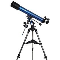 Meade Instruments 216003 Polaris 90 EQ Refractor Telescope (Blue)