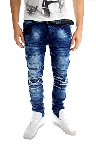 Herren Jeans Hose Dunkel Blau Verwaschen (32 W)