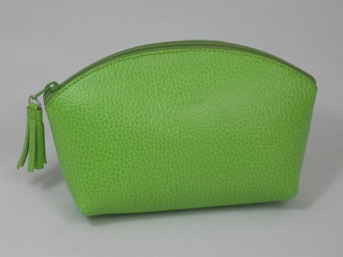Leather Make Up Bag by Laurige - Orange