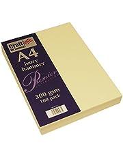 Craft UK W122 A4 gehamerde kaart - ivoor (Pack van 100 vellen)
