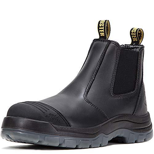 ROCKROOSTER Work Boots Men's Work Boots, Work Boots for Men, Steel Toe Boots, Safety Toe Boots, Water Resistant Shoes, Width EEE - Wide (AK227 11.5 jx) (Boots Wide Width)