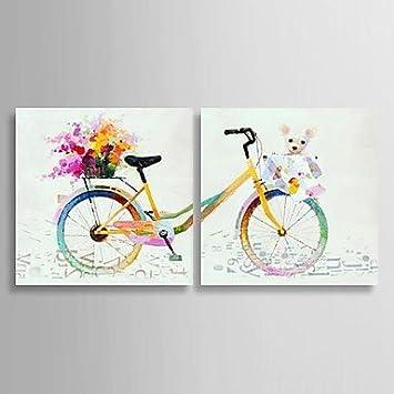 HBJ pintura óleo Encore vie bicicleta pintado con étiré conjunto ...