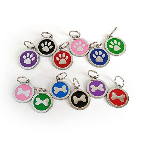 S-Forward Pet Supply - Anti-Lost Pet Dog Cat Name Address Label Tag Pet ID Identity Card Collar Pendant Pet Accessories Paw Bone Customized tag